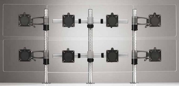 Wishbone Plus Monitor Arm - Eight Screen Configuration