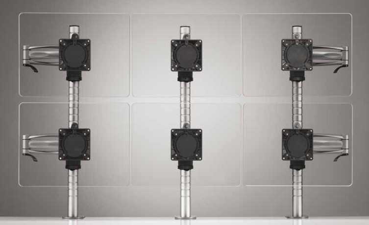 Wishbone Plus Monitor Arm - Six Screen Configuration