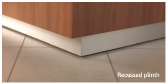 Xpression Reception Desk Recessed Plinth