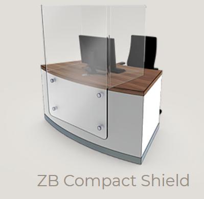 Zed-Shield Reception Desk ZB Compact