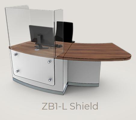 Zed-Shield Reception Desk ZB1-L