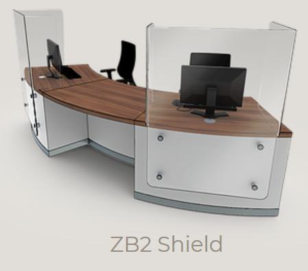 Zed-Shield Reception Desk ZB2