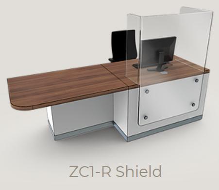 Zed-Shield Reception Desk ZC1-R