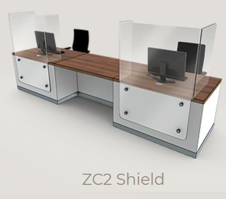 Zed-Shield Reception Desk ZC2