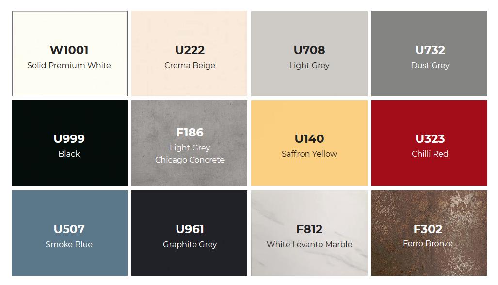 Zed-Shield Reception Desk - Plain Colour Laminates