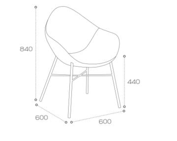 Pear Breakout Chair SPR1 Dimensions