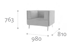 Thynk Soft Seating STK1 Dimensions