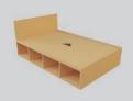 Student Bedroom Furniture Deluxe Storage Bed - 3/4