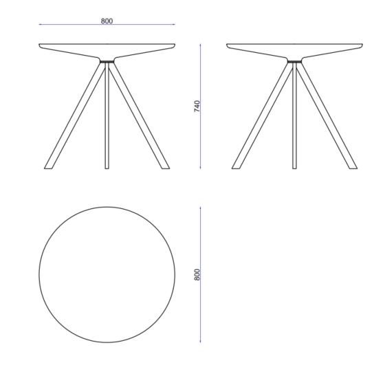 Margarita Table Dimensions