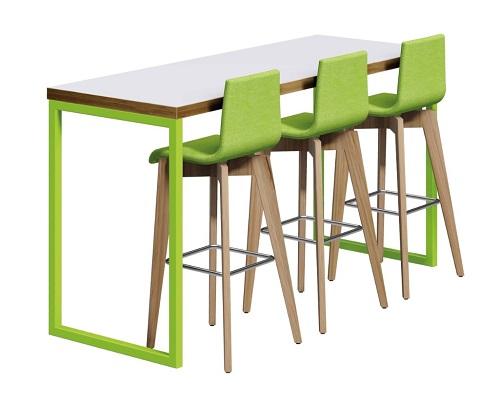 Block Steel Colour Poseur Table