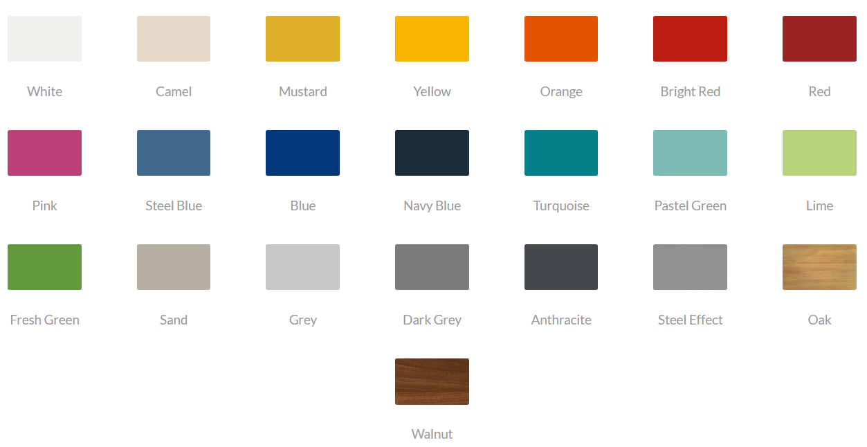 Block Steel Colour - Laminate Top Finishes