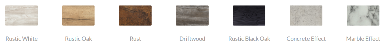 Block Steel Rustic - Top Finishes