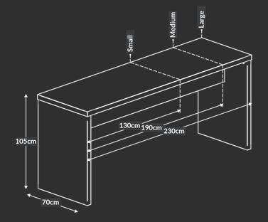 Block White Bench Models