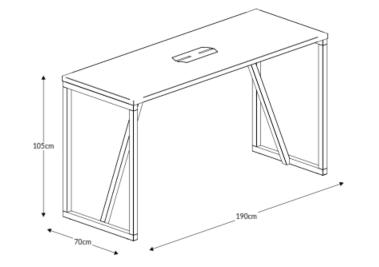 Block Wood Poseur and Power Poseur Dimensions