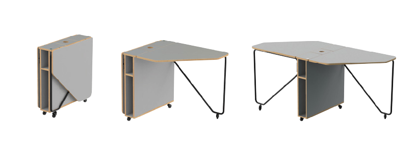 Drop Folding Desk Image