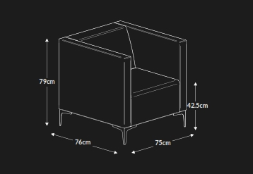 Huddle Settee Dimensions
