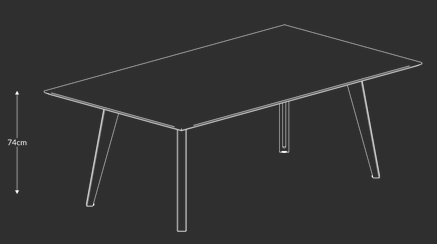 Models in the Jig Social Tables and Benches Range