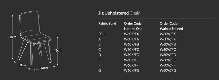 Jig Upholstered Chair Dimensions