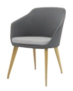 Yak Soft Seating with 4 Leg Beech Base