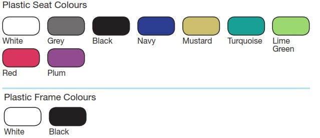 LG4 Plastic Seating Colours