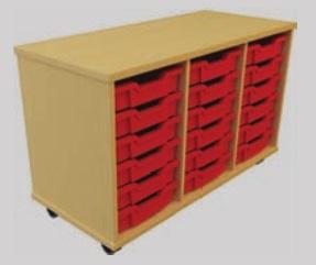 Storage Tray Unit - 18 Drawer Mobile