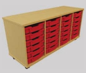 Storage Tray Unit - 24 Tray Mobile