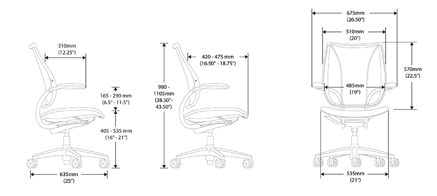 Liberty Task Chair Dimensions