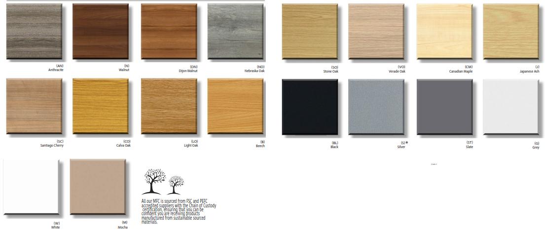 Corner Storage Units - Wood Finishes
