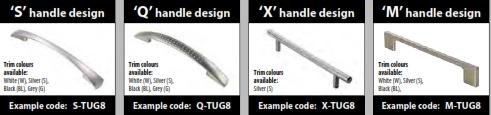 Radial End Storage Units Handle Styles