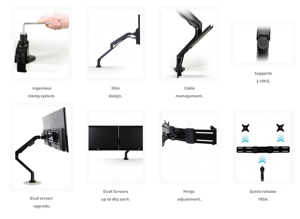 Libero Monitor Arm Features