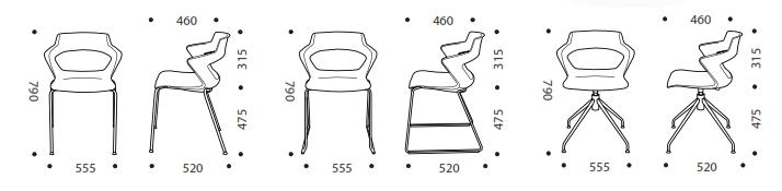 Aria Breakout Chair Dimensions
