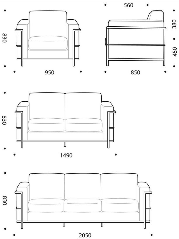 Auriga Soft Seating Dimensions