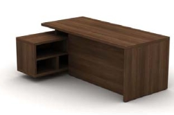 Cirrus Desks and Workstations Desk Open Credenza, Full Modesty Panel