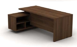 Cirrus Desks and Workstations Open Credenza 3/4 Modesty Panel