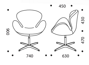 Emily Breakout Chair Dimensions