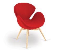 Emily Breakout Chair - 4 Leg Wood Frame