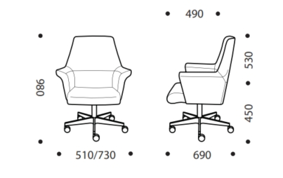 Encore Executive Chair MB Dimensions