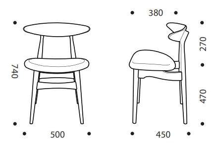 Eva Breakout Chair Dimensions