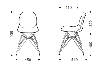 Harriet Visitor Chair Dimensions