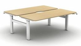 Move Height Adjustable Desks | Crank Back To Back Desk