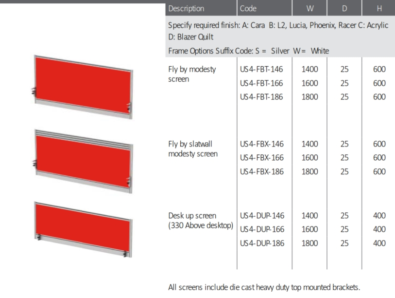Move Height Adjustable Desks Optional Accessories
