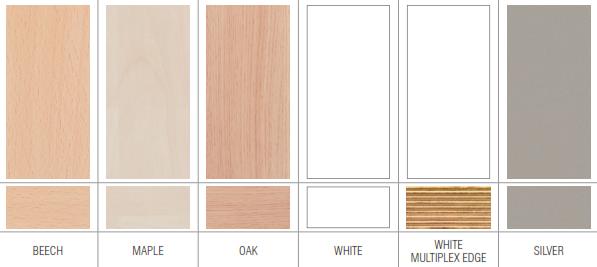 Vega Bench Desks Wood Finishes