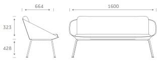 Dishy Soft Seating - DISHYSOFA Dimensions