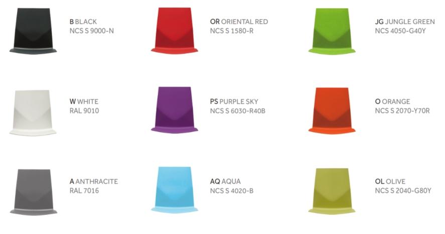 FourCast InnoÔøΩaudi Polyamide Seat Colours
