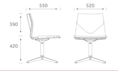 FourCast Lounge Chair Dimenions