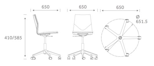 FourCast Wheeler dimensions FCWU