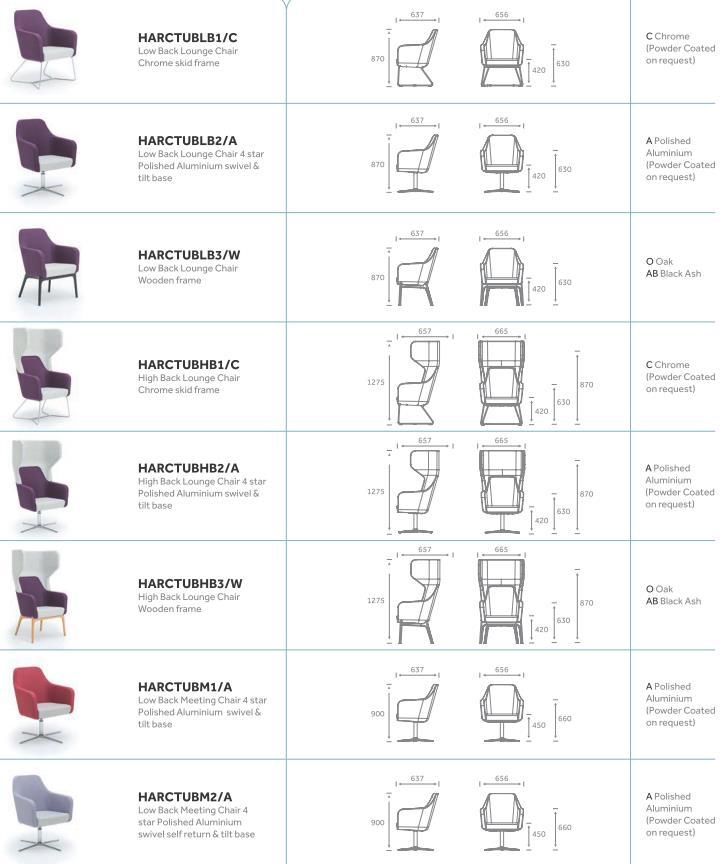 Harc Tub Chair Models