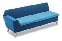 Stretch Soft Seating STRETCH3/R - Three Seater Right Arm