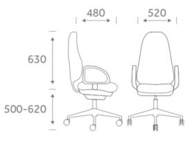 Urban Task Chair Dimensions