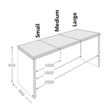 Axiom Rustic Table & Bench Dimensions